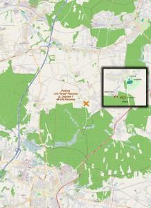 Mapka okolicy. Na północy Gmina i Miasto Czerwionka-Leszczyny, na południu - Żory.