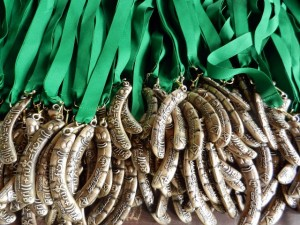 Medale na GRILL+RUN=FUN w 2014r.
